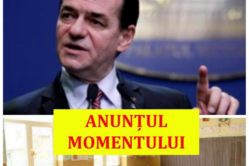 Premierul Ludovic Orban a făcut ANUNȚUL! ȘOMAJ TEHNIC pentru...
