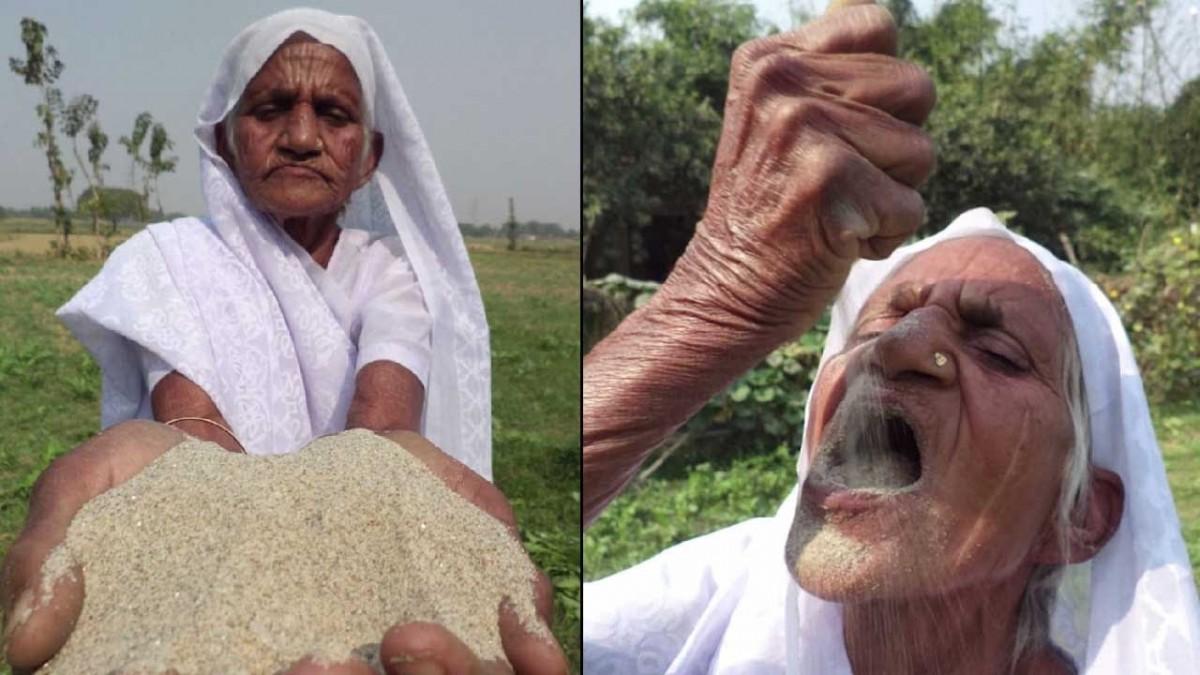 Această femeie are 80 de ani și mănâncă zilnic câte 2 kg de nisip. Motivul e înfiorător! ,,Am mâncat nisip și tencuială de vreo 63 de ani doar pentru că…